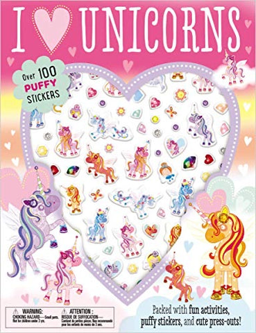 I Love Unicorns Puffy Sticker Book