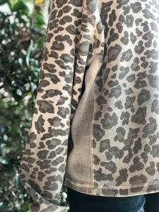 Vintage Havana Leopard Fleece Top
