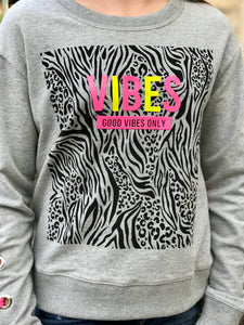 Good Vibes Lace-Up Sweatshirt