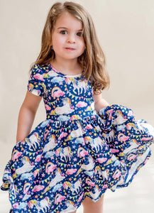 Rainbow Unicorns Hugs Dress