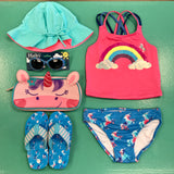 Rainbow & Unicorns Tankini Set