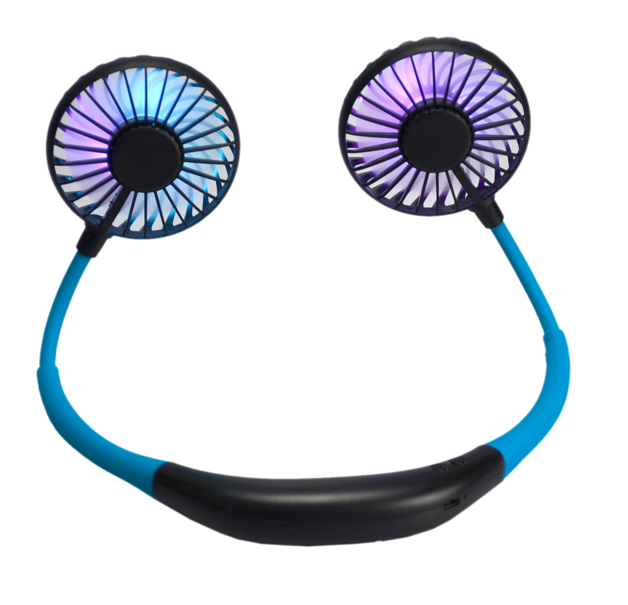 Blue LED Neck Fan