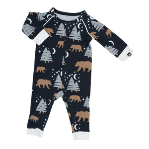 Sweet Bamboo Brown Bear Romper