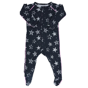 Sweet Bamboo Pink Stars Footie