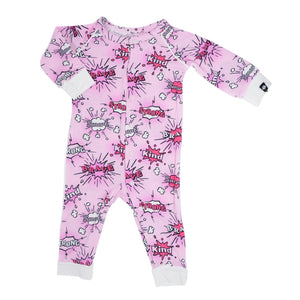 Sweet Bamboo Pink Super Hero Romper