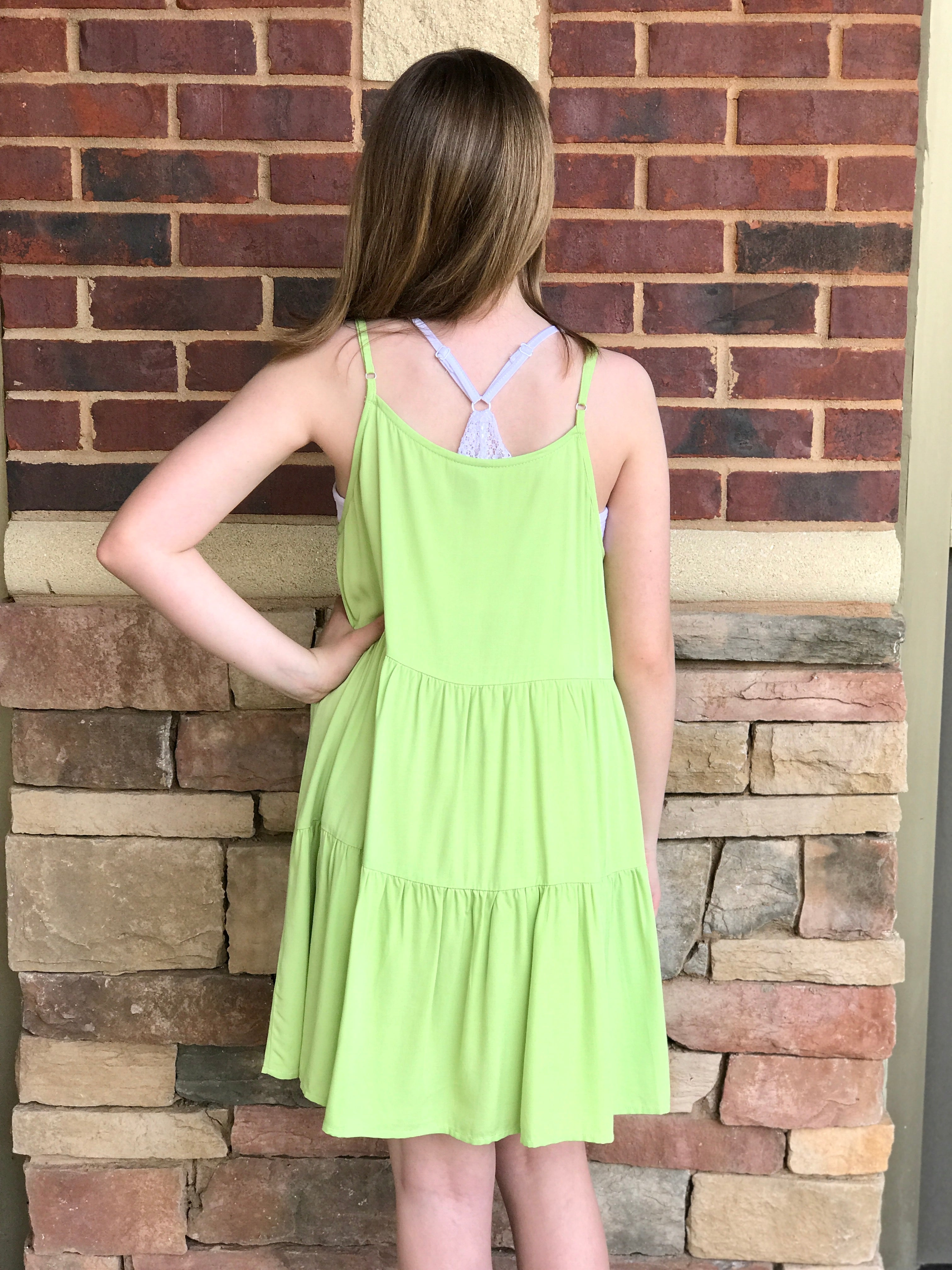 Tiered Dress with Front Buttons