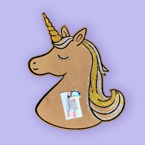 Unicorn Cork Board with Pins