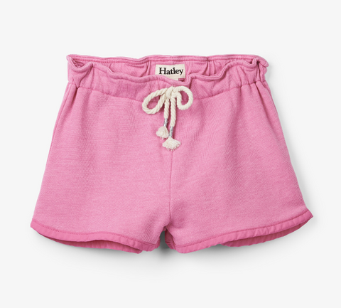 Pink French Terry Adventure Shorts