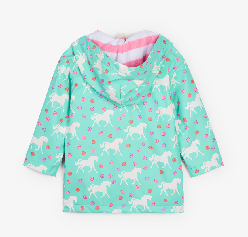 Color-Changing Horses Raincoat