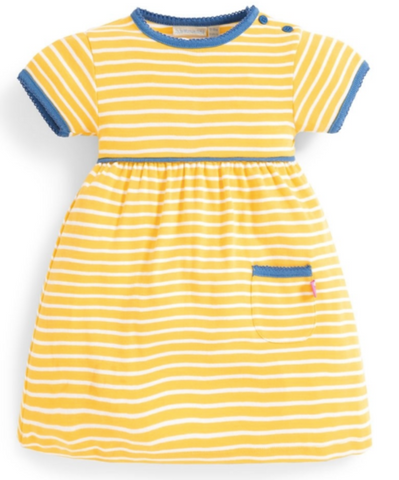 Striped Front-Pocket Dress