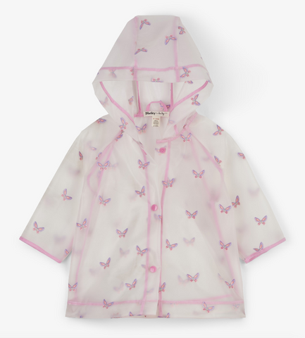 Butterflies Clear Baby Raincoat