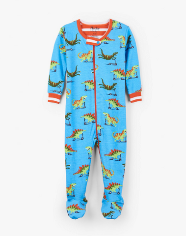 Scooting Dinos Footed Coverall
