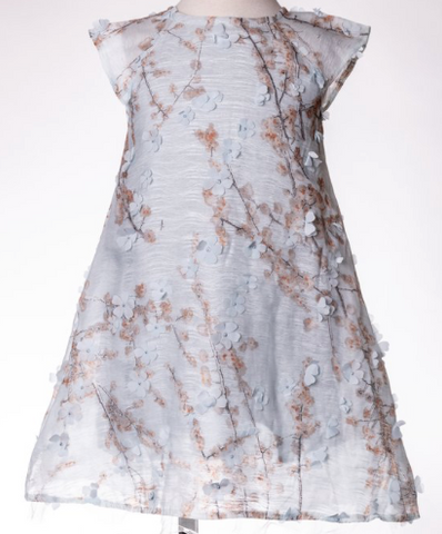 Blue Blossom Flower Dress