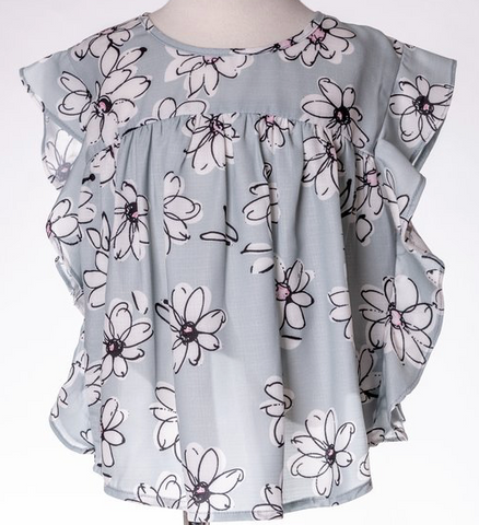 ML Kids Big Flower Top