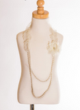 Elastic Floral Lace Necklace