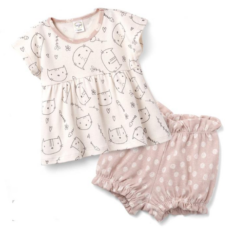Kitty Kats Top & Bloomer Shorts Set