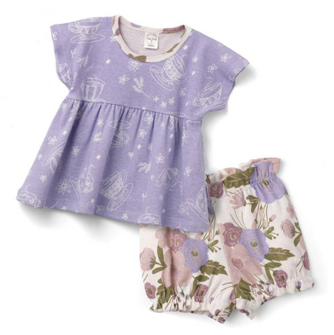 Tea Party Top & Bloomer Shorts Set