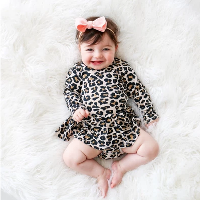 Lana Leopard Skirted Bodysuit