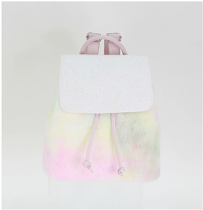 Cotton Candy Fur & Sparkle Backpack