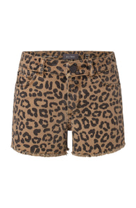 DL1961 Leopard Denim Shorts