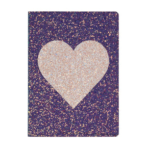 Glitter Heart Flex Journal