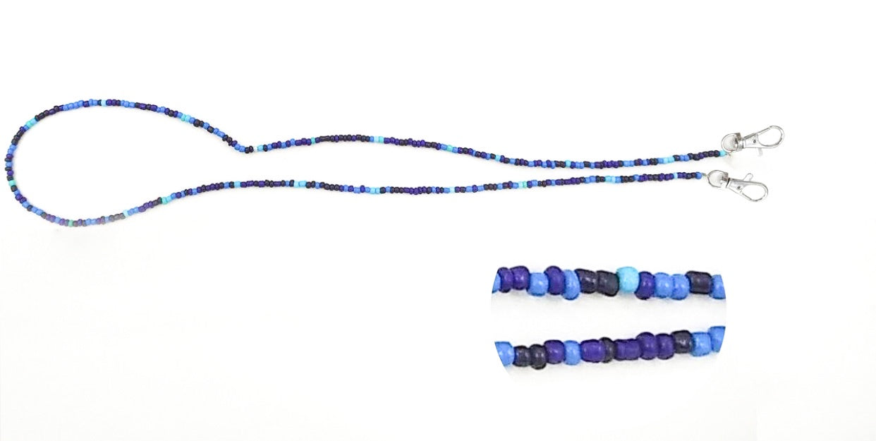 Blue Beads Mask Necklace