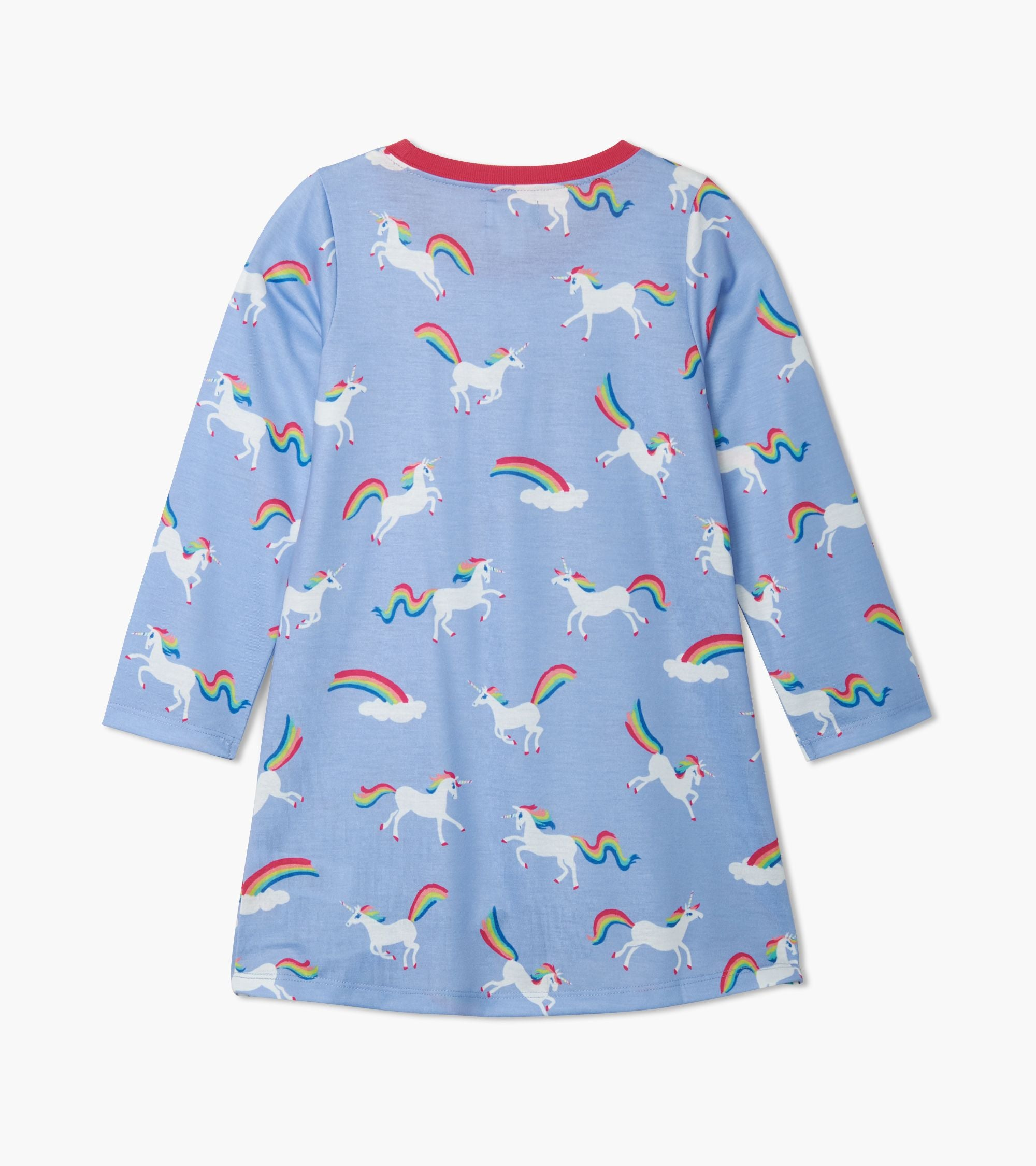 Rainbow Unicorns LS Nightdress