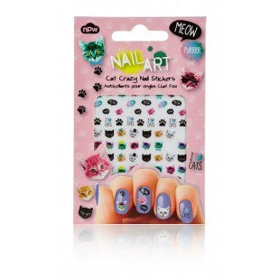 Cat Crazy Nail Stickers