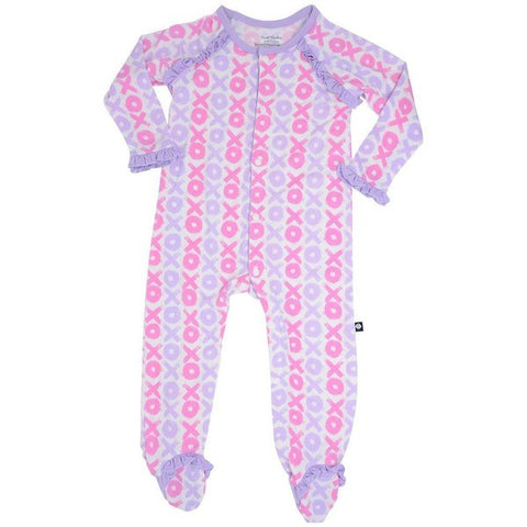 Sweet Bamboo Hugs & Kisses Ruffle Footie