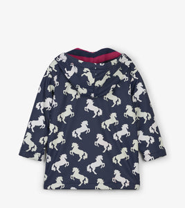 Playful Horses Color Changing Raincoat