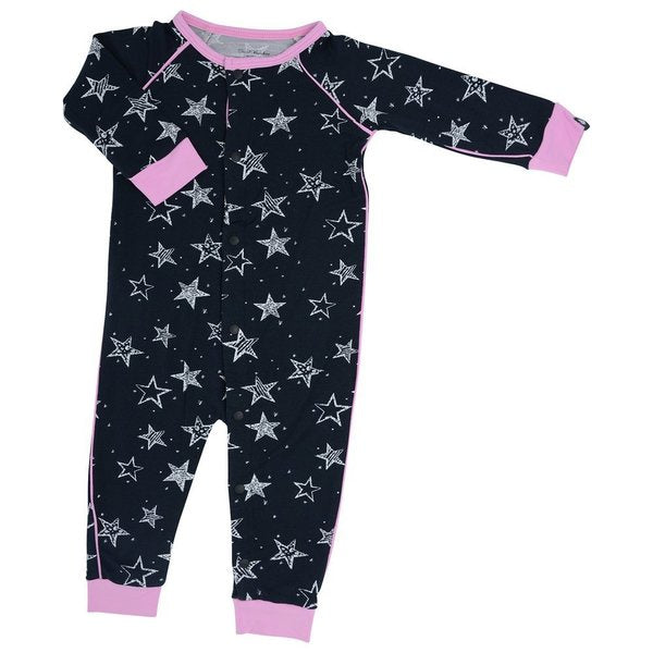 Sweet Bamboo Pink Starry Night Romper