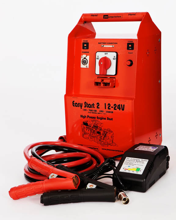 Heavy Duty 12/24 Volt Jump Starter Pack - 4400 Peak Amps