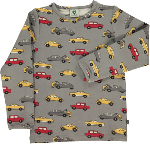 Smafolk Multi Coloured Cars Top Grey