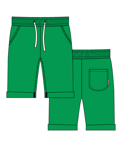 Maxomorra Basic Shorts Green
