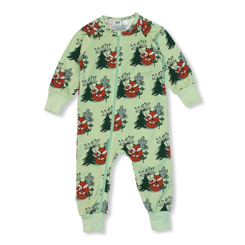 JNY Design Cuddling Foxes Zip Romper