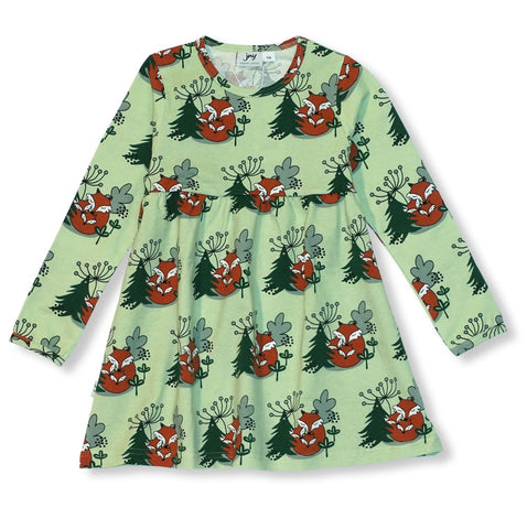 JNY Design Cuddling Foxes Dress