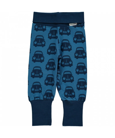 Maxomorra Rib Cars Baby Trousers