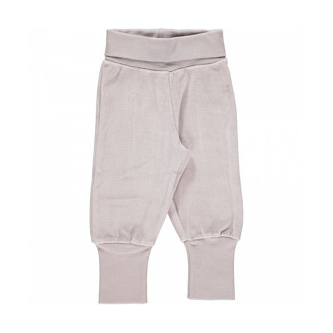 Maxomorra Basic Velour Grey Baby Trousers