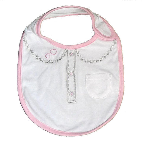 Name It Baby Girls Bib with Details