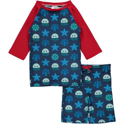 Maxomorra Deep Sea Swim Suit Set