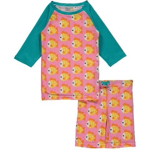 Maxomorra Goldfish Swim Suit Set