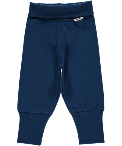 Maxomorra Basic Dark Blue Baby Trousers