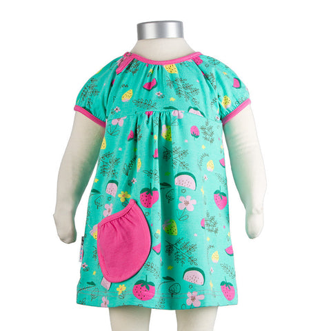 JNY Design Summer Fruits Baby Body Dress Short Sleeves