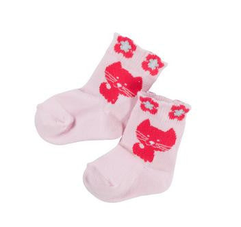 Name It Baby Socks With Cats Pink