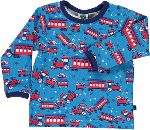 Smafolk Christmas Train Baby Top