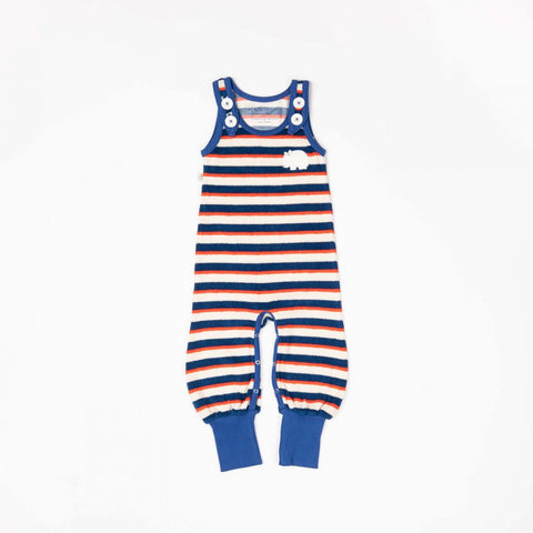 Alba of Denmark Happy Crawlers Dungarees Solidate Blue Striped