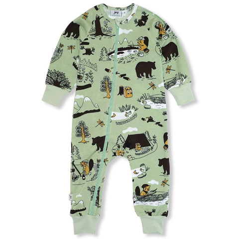 JNY Design Hiking Zip Romper