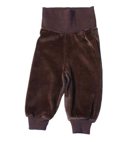 Maxomorra Brown Baby Velour Trousers