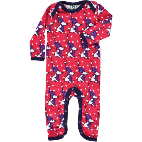 Smafolk Christmas Mouse Baby Romper Suit Red