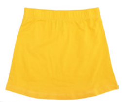 More Than A Fling Solid Yellow Skirt